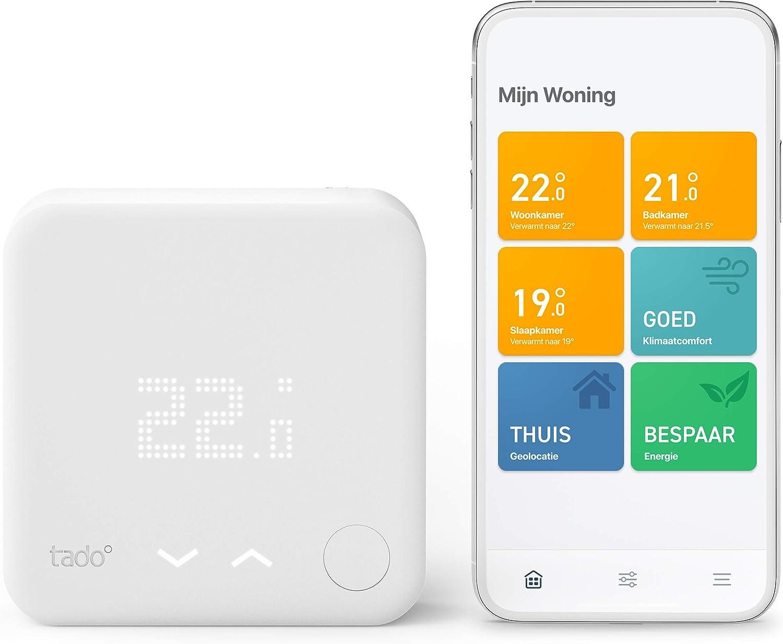 Tado 4260328611456 Bedrade Slimme Thermostaat Starterskit V3 Intelligente Verwarmingsaansturing Eenvoudige Doe Het Zelf Installatie Ontworpen In Duitsland Wit Amazon Nl