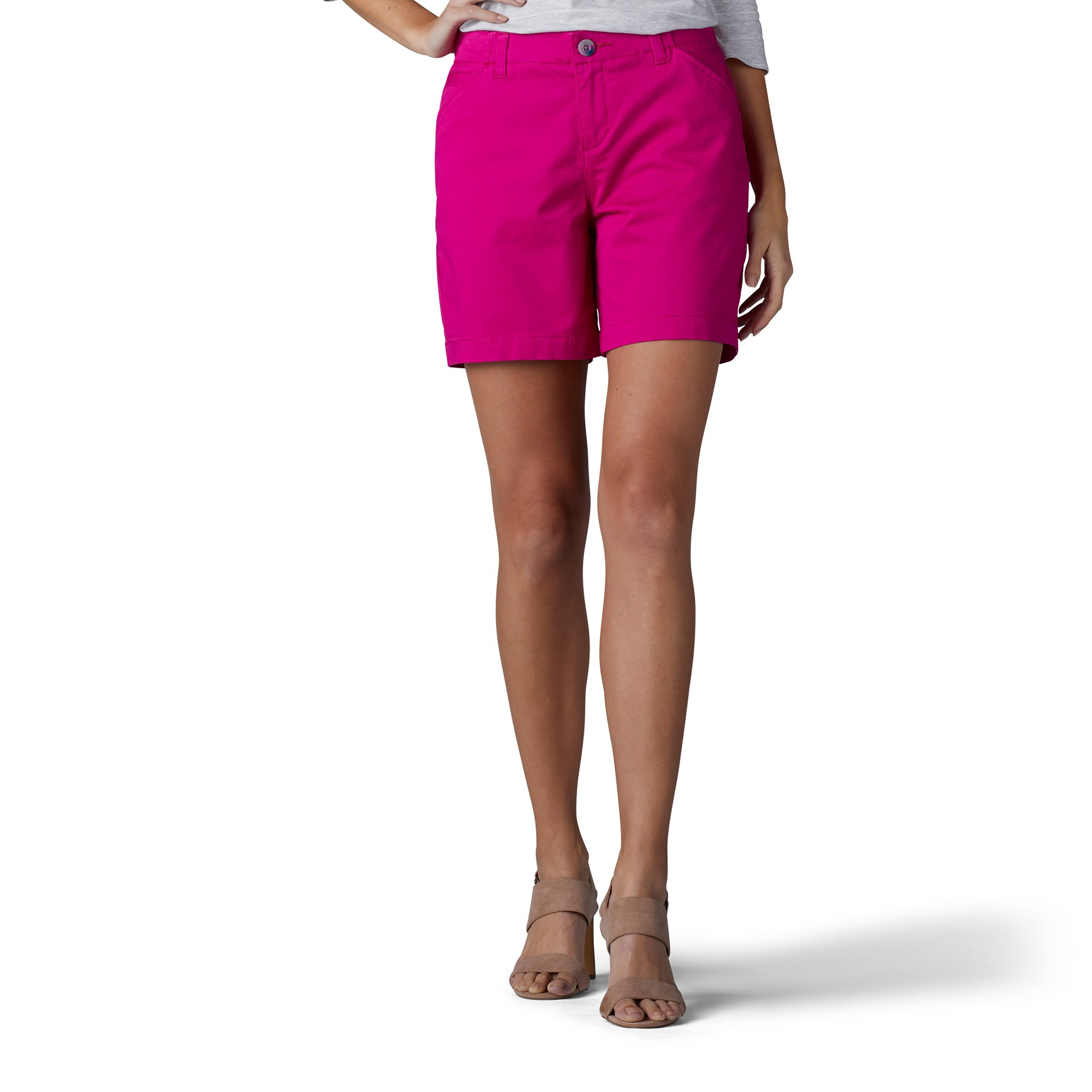 LEE Women's Straight Fit Tailored Chino Short, Vintage Boysenberry, 4