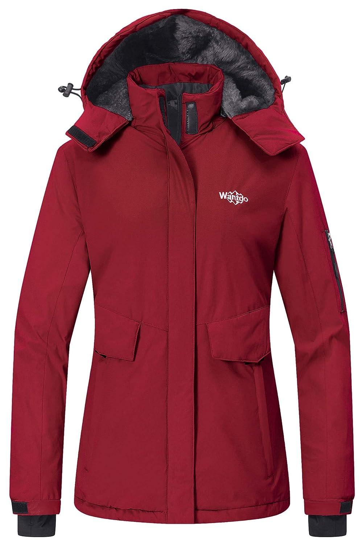 Wantdo Damen Mountain Ski Fleece-Jacke Wasserdichte Parka Winddichtes warmer Winter Raincoat