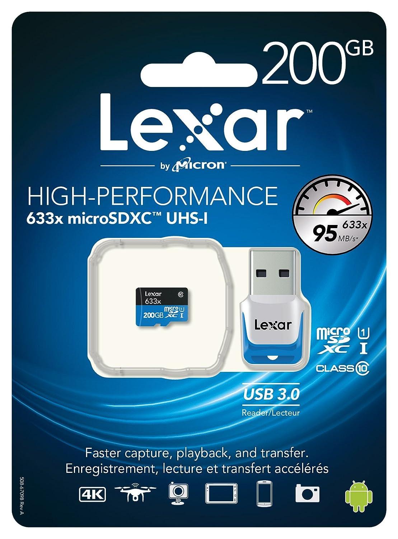Prezzo sottocosto su Amazon: Lexar High Performance microSDXC 200GB