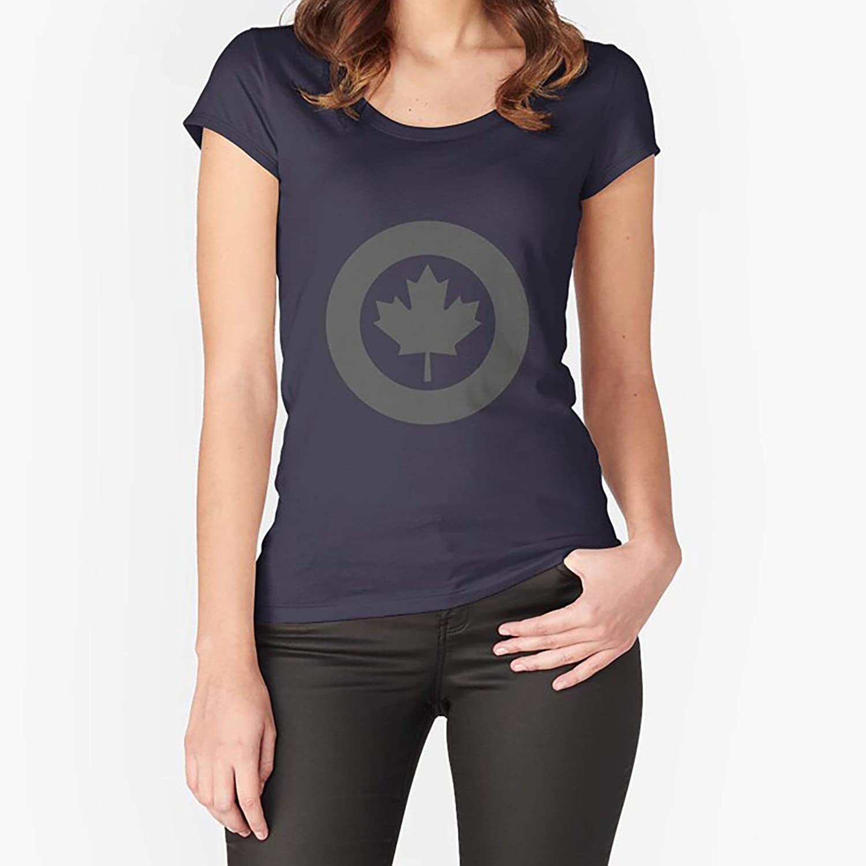 Sweatshirt For Mens Womens Ladies Kids Royal Canadian Air Force Roundel Low Visibility Fitted Scoop TShirt Unisex Hoodie