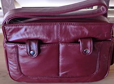 Wilsons Leather Luxurious Lamb Top-zip Small Shoulder Bag -Red 8af90089896c2