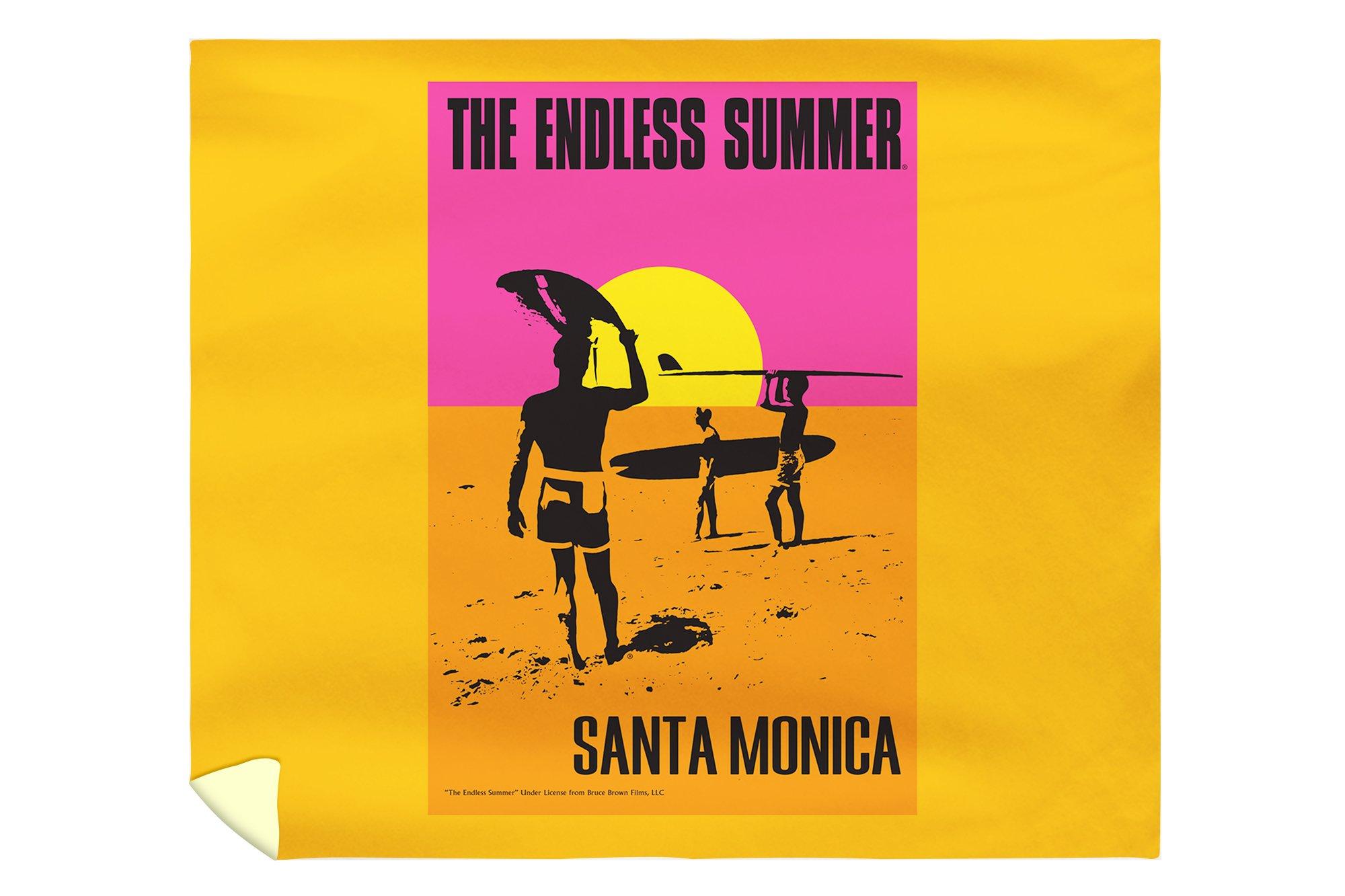 Santa Monica, California - The Endless Summer - Original Movie Poster (88x104 King Microfiber Duvet Cover)