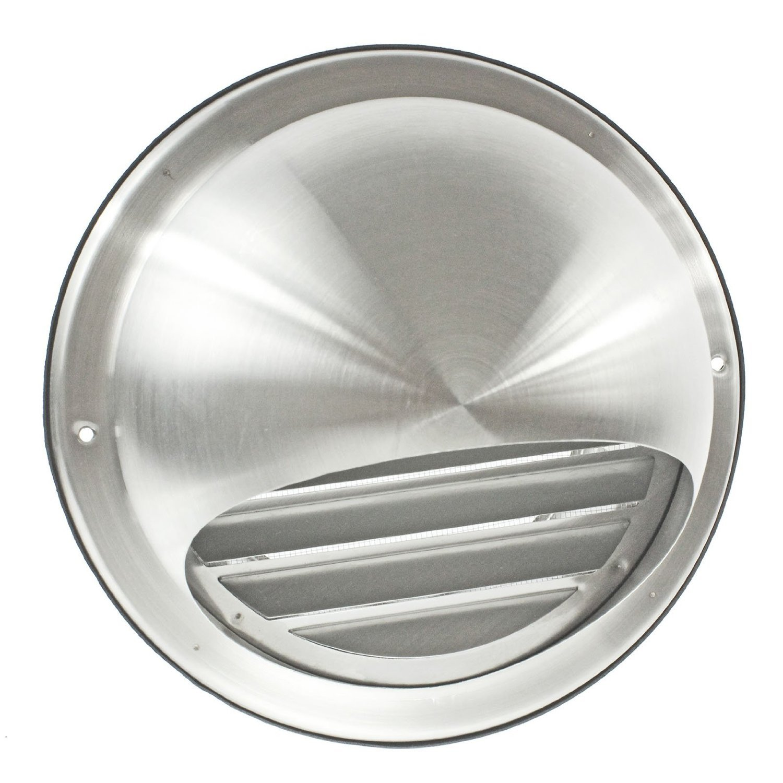 spares2go Bull externe au nez rond en acier inoxydable mur d'extraction d'air sortie d'aé ration avec moustiquaire Grille (150 mm, 15,2 cm) 2cm)