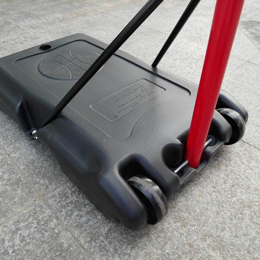 Bulary Black & Red Portable Removable Adjustable Teenager Basketball Rack by Bulary (Image #5)
