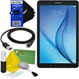 """Samsung Galaxy Tab E 9.6"""" 16GB Wi-Fi Tablet (Black) SM-T560NZKUXAR + USB Cable + 5pc Deluxe Cleaning Kit + HeroFiber Ultra Gentle Cleaning Cloth"""