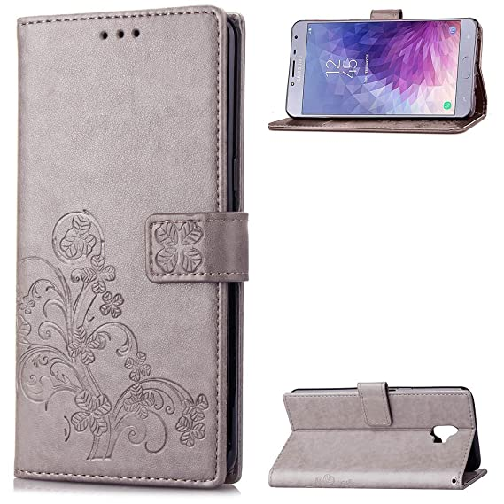 best loved 9c78e 09330 Samsung Galaxy J4 2018 Wallet Case,BiBiDs flower pattern style Wallet  Leather Extra Thin Premium Scratch Resistant Samsung Galaxy J4 2018 Case  Wallet ...