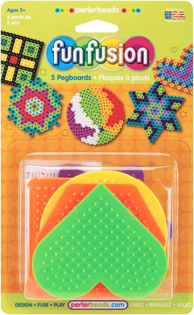 Perler Beads Small Fun Shaped Pegboards-7 Count ( Packaging May Vary )