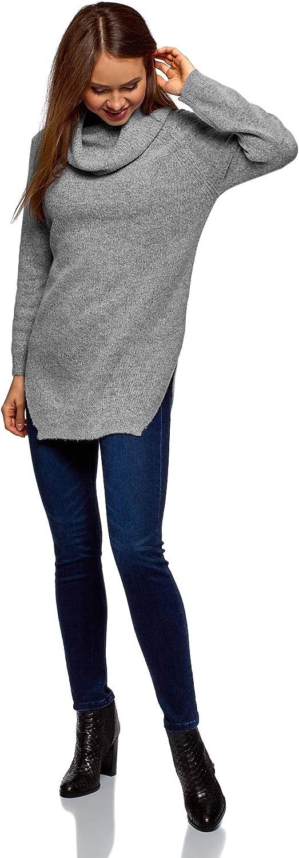 oodji Ultra Mujer Jersey Texturizado Holgado