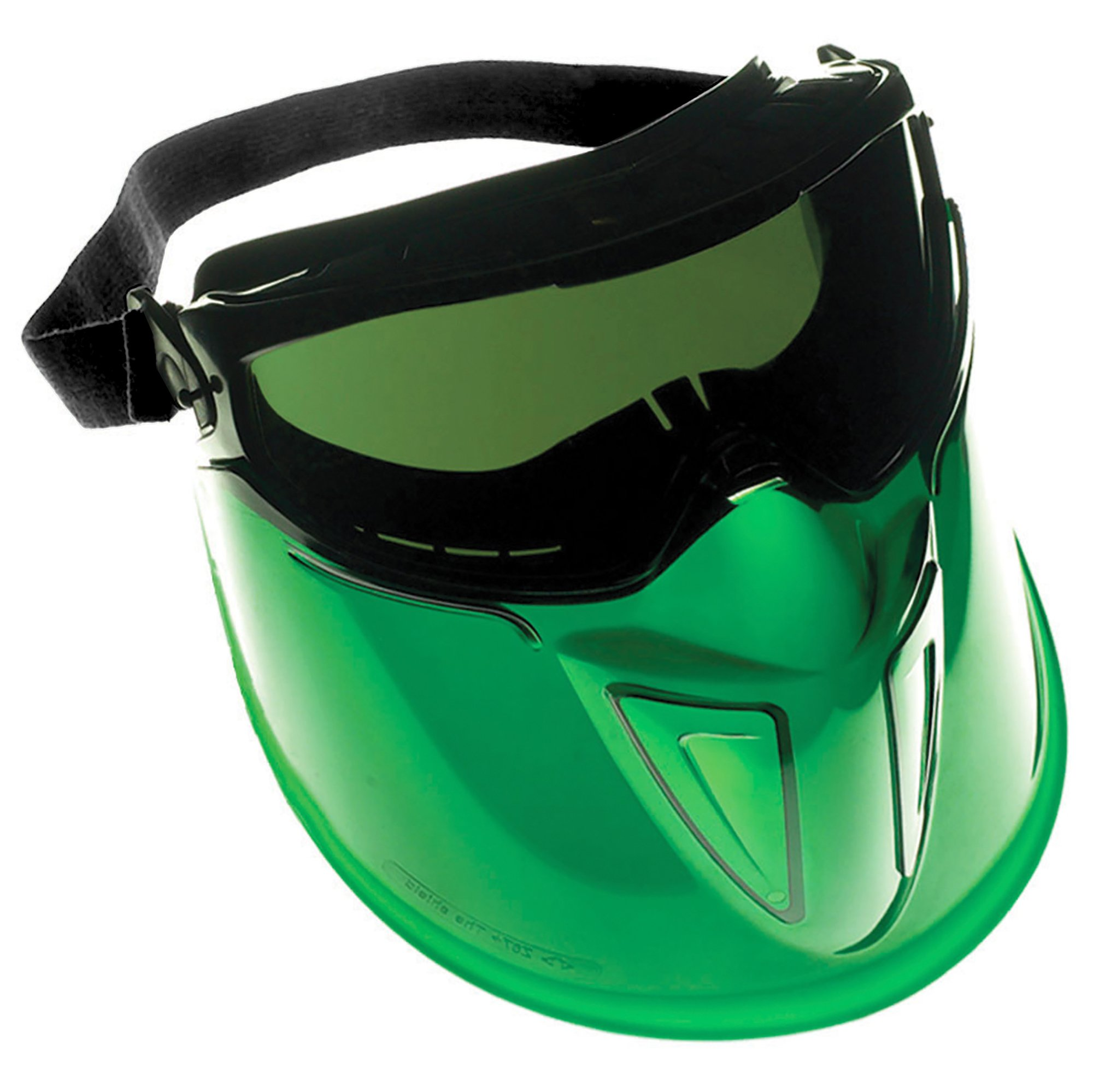 """Jackson Safety V90 """"The Shield"""" Safety Goggles with Face Shield (18631), IRUV Shade 3.0 Anti-Fog Lens with Black Frame, 6 Pairs / Package"""