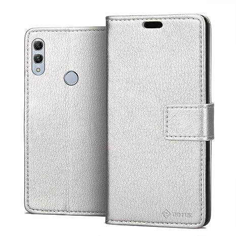 RIFFUE Funda Huawei P Smart 2019 / Honor 10 Lite, Carcasa Libro Suave Delgada con Tapa Flip Folio de PU + Silicona Elegante Retro, Soporte Plegable, ...