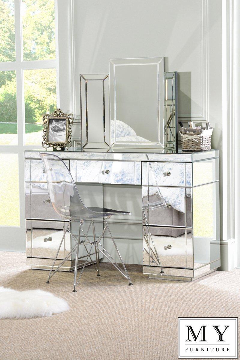 MY-Furniture - Miroir triptyque pliable pour coiffeuse - COLLETA