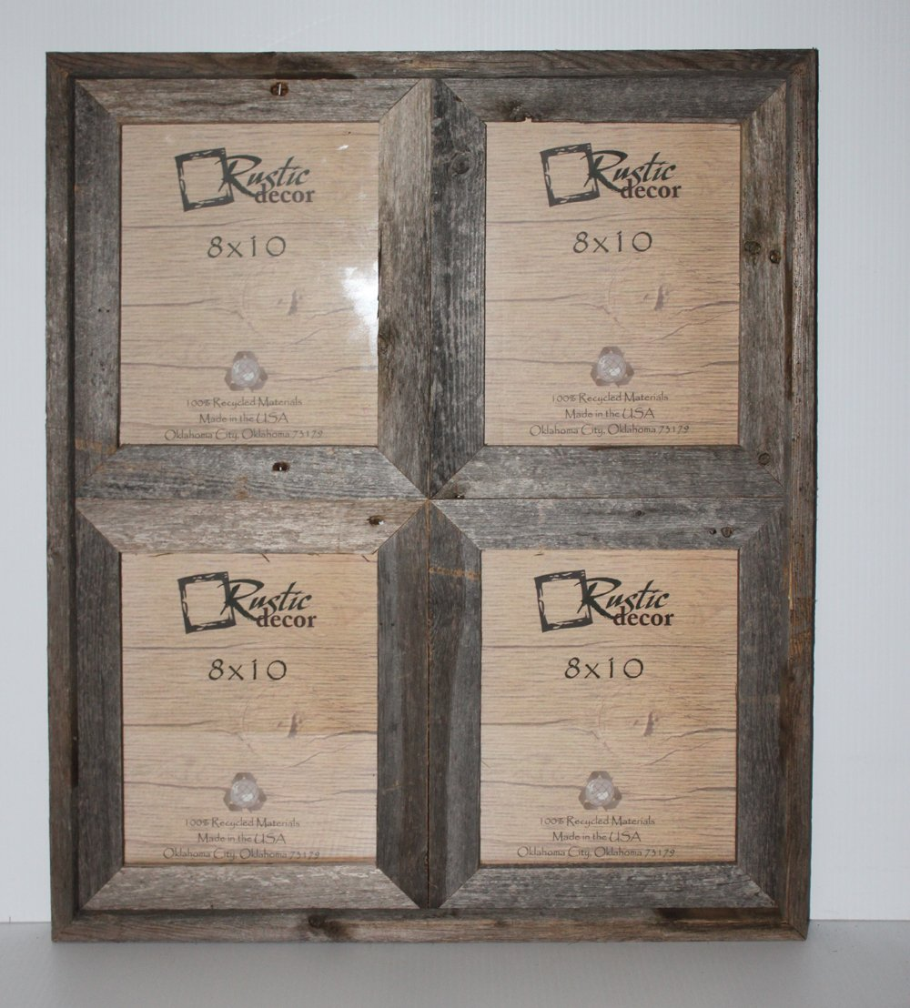 8x10 and 5x7 collage frame - Amazon Com 8x10 2 5 Wide Reclaimed Rustic Barnwood Collage Photo Frame Holds 4 Photos Single Frames