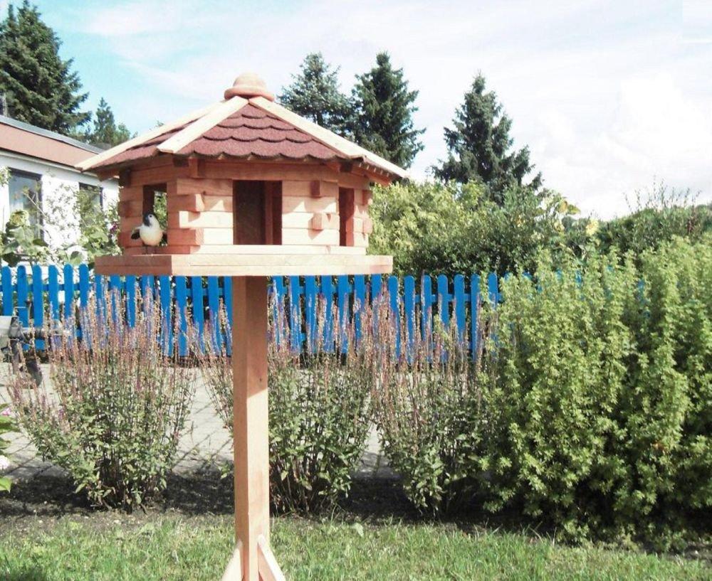 Vogelhaus Knusperhäuschen mit Fußkreuzständer Futterhaus