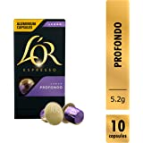 L'OR Espresso Lungo Profondo Intensity 8, Nespresso® Compatible Coffee Capsules, 5.2g, 10 Count