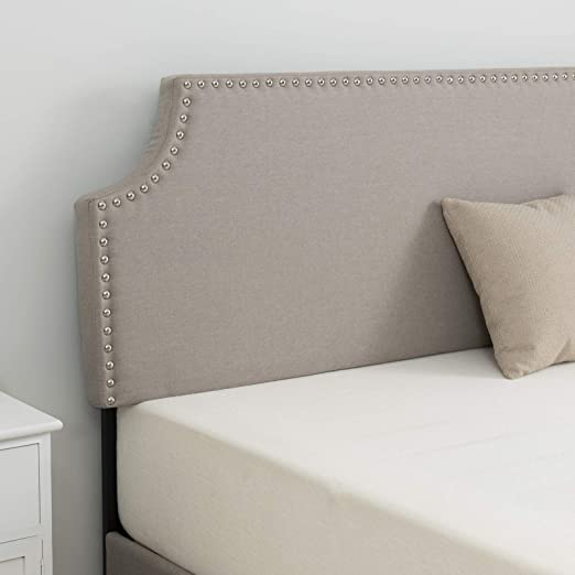 Twin//Full//Queen Size Linen Fabric Tufted Upholstered Headboard Height Adjustable