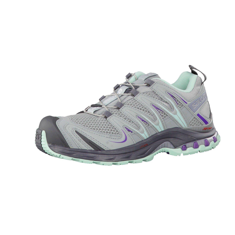 Salomon XA Pro 3D Shoe - Women's Light Onix / Light Onix / Igloo Blue 11