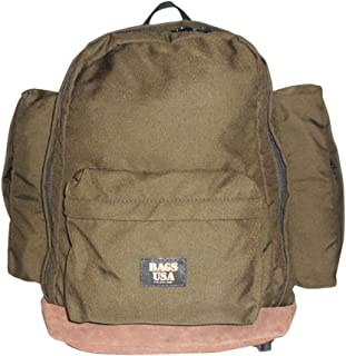 product image for BAGS USA Deluxe Backpack with Two Large Side Pockets and Suede Bottom.
