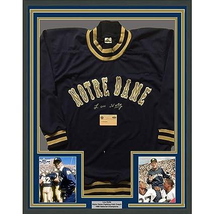 sale retailer 3653e 3a4f6 Framed Autographed/Signed Lou Holtz 33x42 Notre Dame ...
