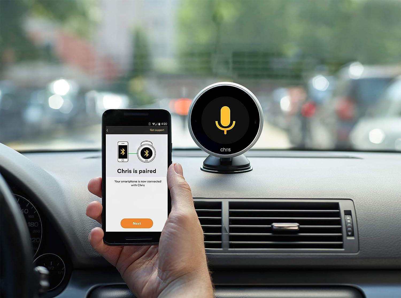/Digital assistente per driver con voce e Gesture Control////condizioni di sicurezza il vostro smartphone ////Android e iOS, Bluetooth, display, supporto a ventosa messaggi, navigazione, chiamate in vivavoce e musica Chris/