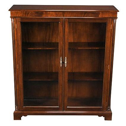 best service c01f4 69b66 Amazon.com: NOF014 Mahogany Two Door Bookcase by Niagara ...