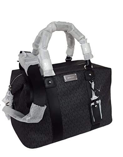 1f2eac6faca Image Unavailable. Image not available for. Color  Michael Kors LG large  travel bag weekender purse MK black ...