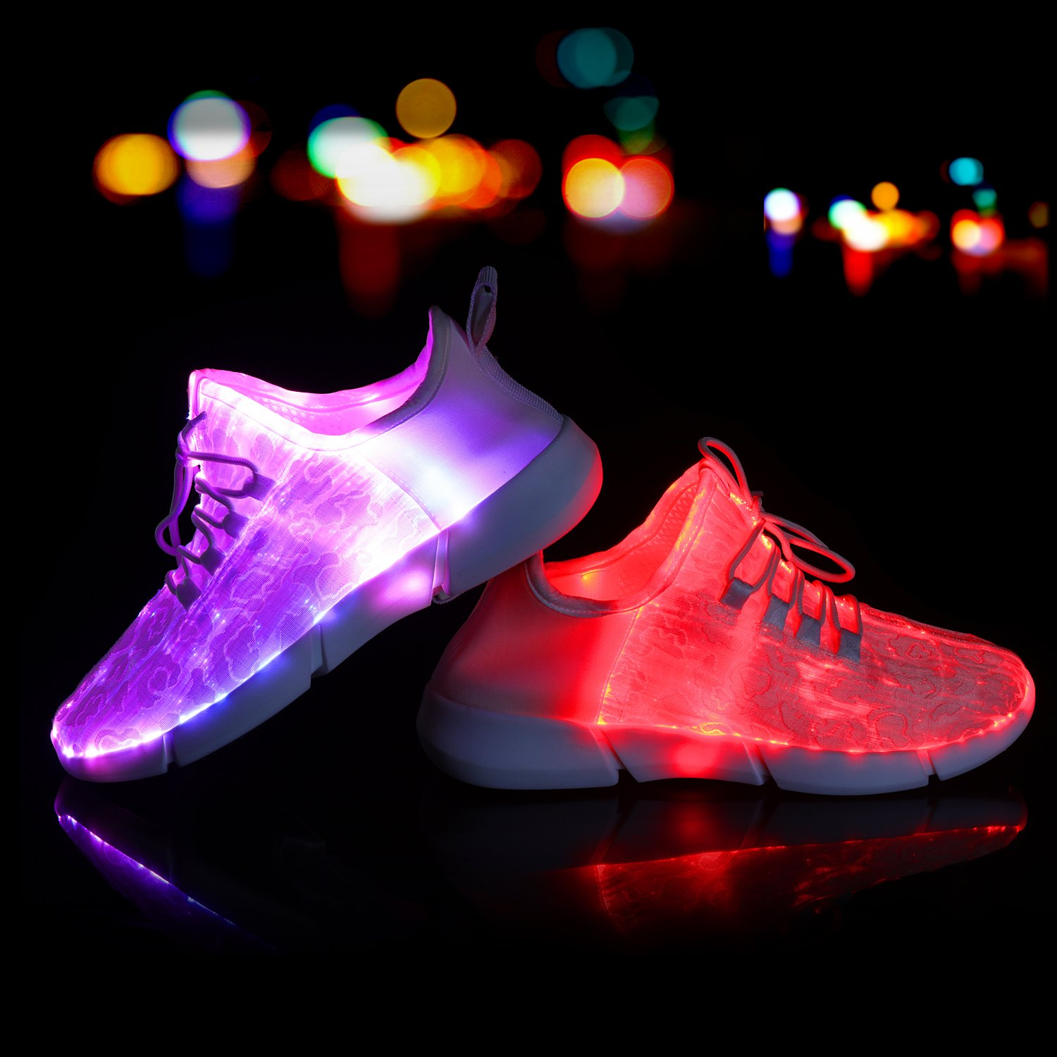 best service a1b02 0812d Shinmax Fiber Optic LED Shoes, Light Up Shoes for Women Men USB Charging  Flashing Luminous Trainers for Festivals, Christmas Party