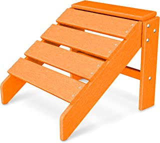product image for POLYWOOD SBO20TA South Beach Ottoman, Tangerine