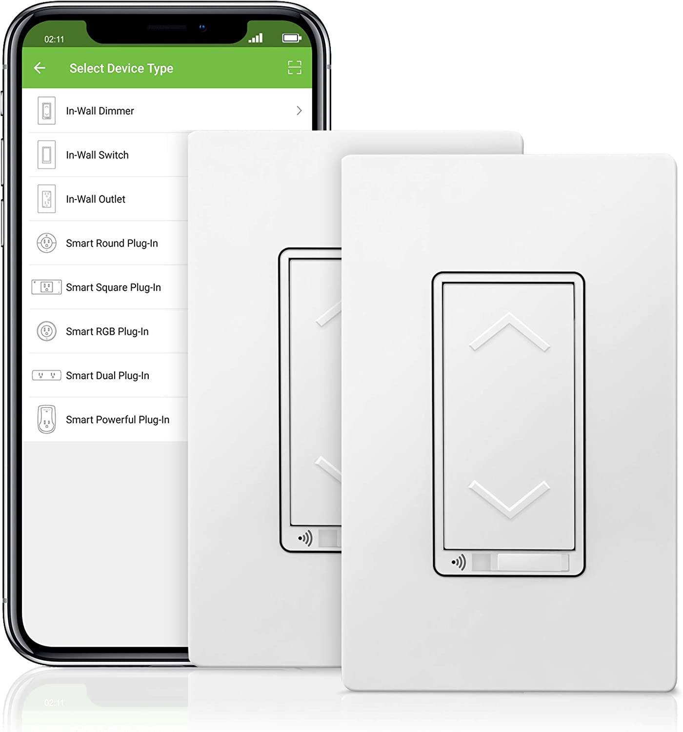 TOPGREENER Smart Wi-Fi Dimmer Switch TGWF3K Sold Separately Compatible with Alexa and Google Assistant Dim Lighting from Anywhere TGWF500D 2 Pack Top Greener Inc No Hub Required Single Pole or 3-Way in-Wall