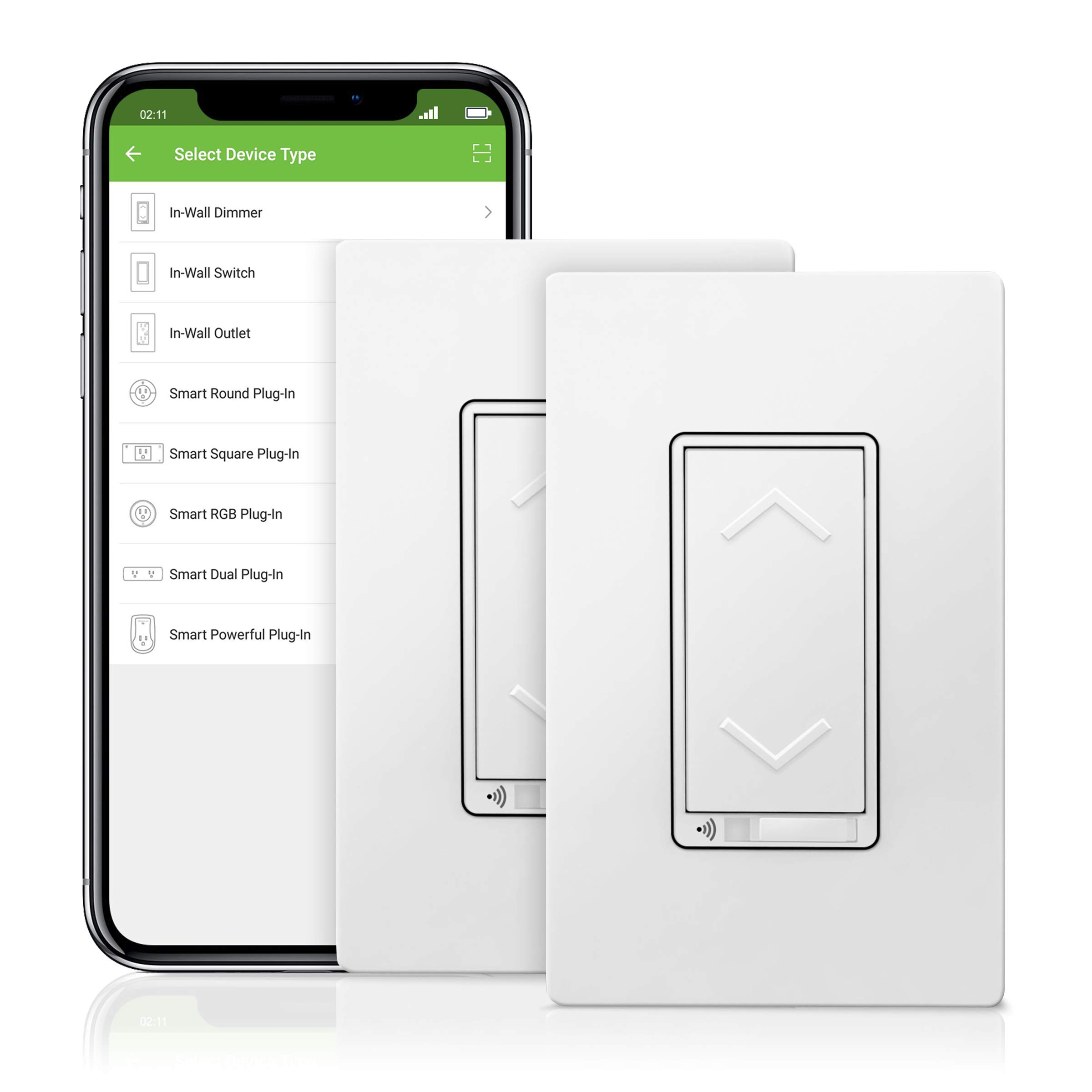 TOPGREENER Smart Dimmer Switch, UL Listed, Neutral Wire Required, Single Pole, No Hub Required, Works with Amazon Alexa and Google Assistant,TGWF500D 2 Pack