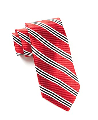 and tie striped Red white