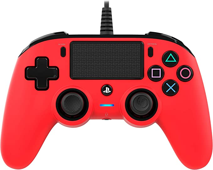 Oferta amazon: Nacon - Mando Compacto para PS4, color Rojo