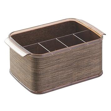 InterDesign Twillo Silverware Organizer Caddy   Flatware Storage Solution  For Kitchen Countertop Or Dining Table,