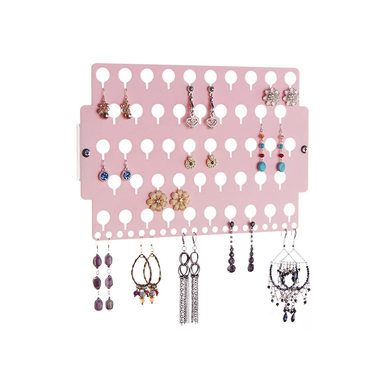 Angelynn's Earring Holder Organizer Wall Mount Hanging Closet Jewelry Storage Rack, Earring Angel Blue EA-BL
