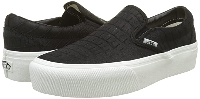 Vans Classic Slip on Platform Leather, Sneaker Donna