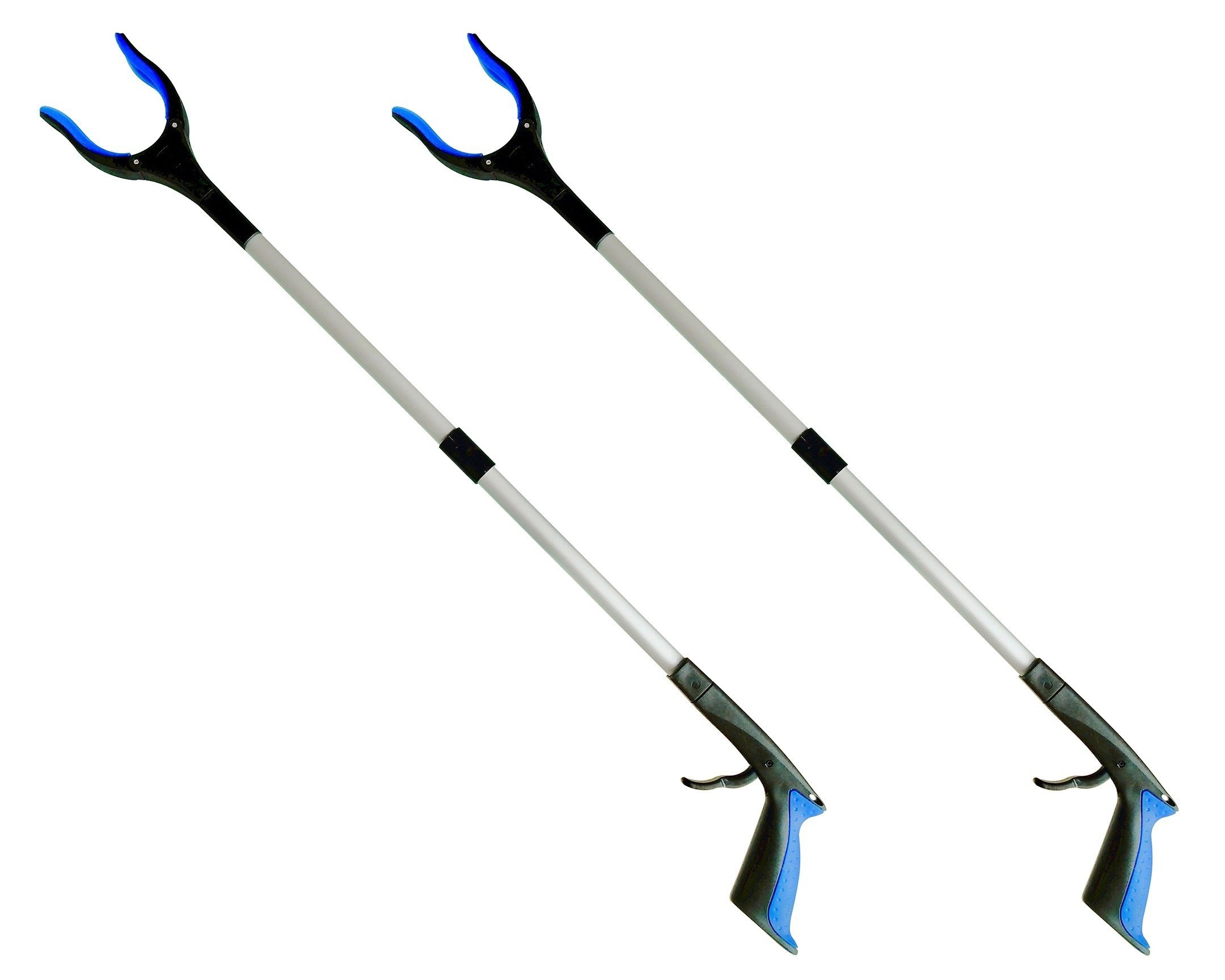 2-Pack ThingWx Pro Foldable Reacher Grabber with Rotating Grip - 34'' Long Aluminum Alloy Lightweight and Durable Reaching Aid Tool