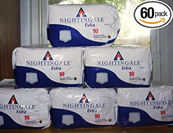 Nightingale Extra Adult Briefs - Extra Large (XL), 60 Count (Pack of