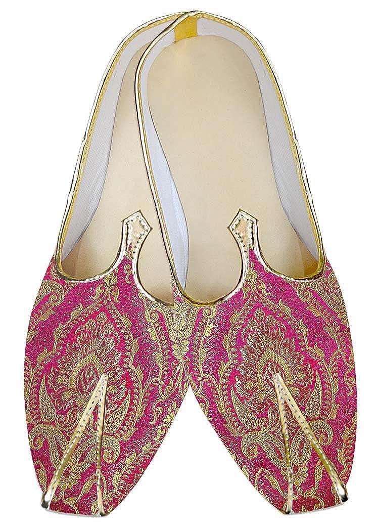 INMONARCH Hombres Boda Zapatos Bridegoom Magenta MJ016058 48.5 EU