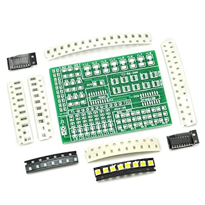 Gikfun SMD SMT Components Solder Kit Practice PCB Board Electric Led DIY Kit for Arduino Learning Welding Training Suite EK1938