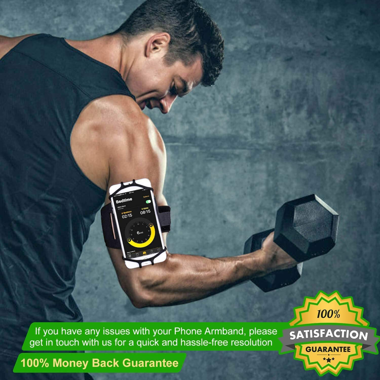 APzek Running Armband Sports Armband Workout Phone Holder for Running Jogging 180/° Rotatable Phone Armband for iPhone Xs Max Xs Xr X 8 Plus 8 7 6s Plus Black Galaxy S10+ S10 S10e S9 S8 S7
