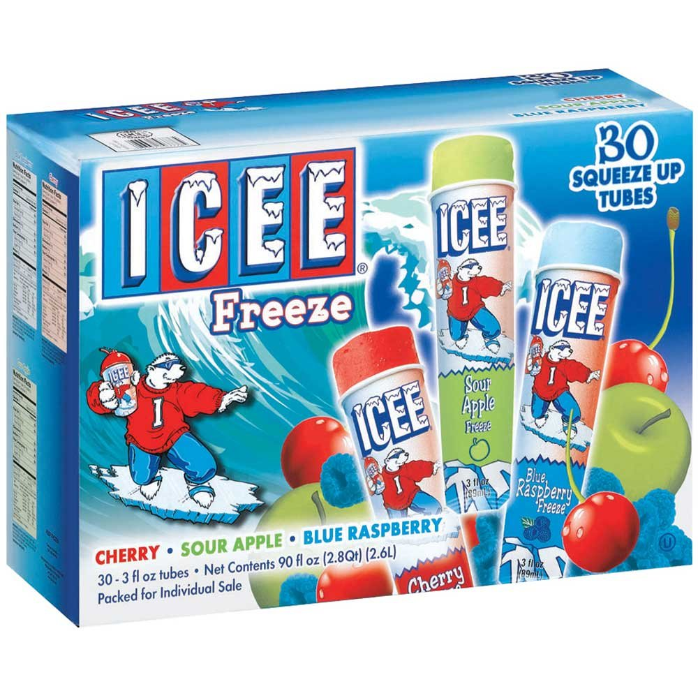 J and J Snack Icee Snack Tube - Variety Pack, 3 Ounce - 30 per case. by J and J Snack Foods (Image #2)