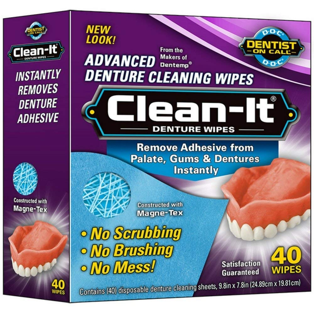 D.O.C. Clean-It Advanced Denture Cleaning Wipes - 40 each, Pack of 4 MAJESTIC DRUG CO INC