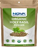 Nova Nutritions Certified Organic Holy Basil (Tulsi) Powder 16 OZ (454 gm) - Supports Healthy Immune Function
