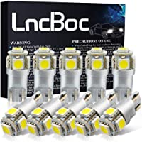 LncBoc Bombillas LED T10 W5W LED Coche 5SMD