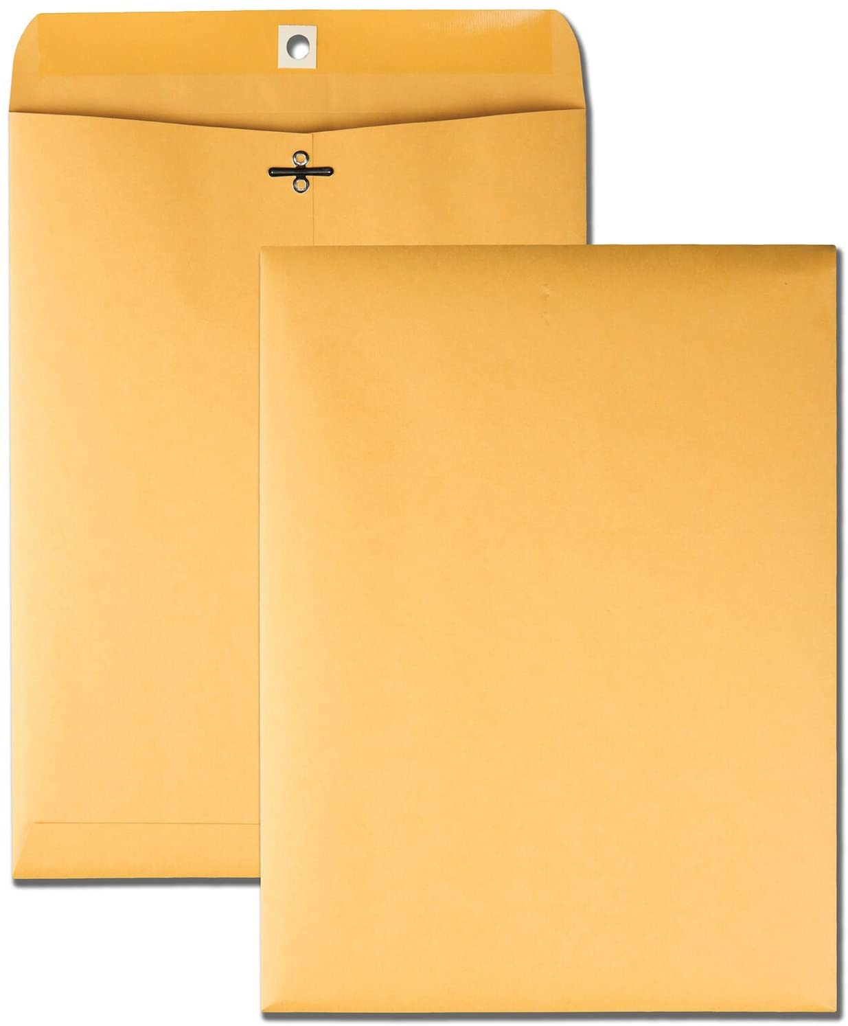 Quality Park 9 x 12 Clasp Envelopes with Deeply Gummed Flaps, Great for Filing, Storing or Mailing Documents, 28 lb Brown Kraft, 100 per Box (37890) : Office Products