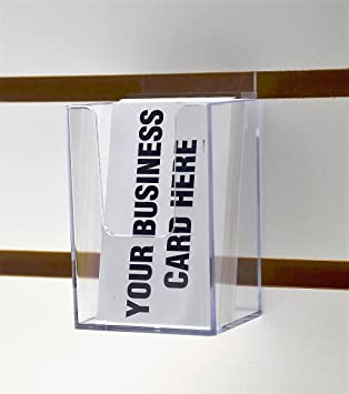 Amazon Marketing Holders Vertical Business Card Holder Clear
