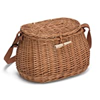 Prestige Wicker Fishing Creel, Natural, 32 x 17 x 19 cm