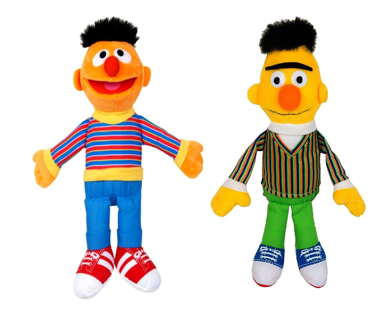 Official Licensed, Sesame Street Plush Toys : Ernie-Bert- 40cm//15.7 Pack of 2