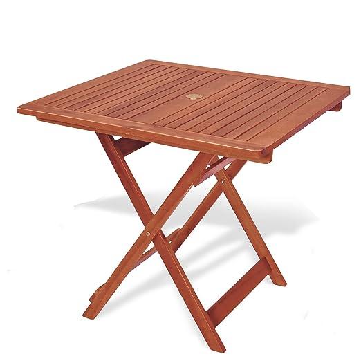 Mesa cuadrada plegable 80 x 80 x 72 mesa de jardín mod.Madreselva ...