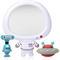 Nuby Spaceman Mirror bath Toy, Multicolour, Small, 3 count
